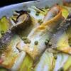 鮎とジャガイモのこんがりグリル、山椒風味