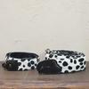 牛さん模様のフカフカ生地でカメラストラップとギターストラップ製作