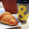 アンドコーヒー メゾンカイザー @銀座 ニューオープンのカフェでクロワッサンとコーヒーを