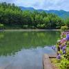 梓川ふるさと公園の修景池(長野県安曇野)