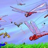 赤トンボと害虫の空中戦