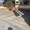 厳選された枕木で 駐車場の車止め 千葉県 柏市