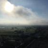 朝霧晴れる
