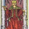 「正義」のカードに描かれた人物の右足