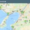 日本百名城、マップ作成。