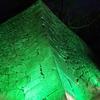緑の町に舞い降りて。グリーンライトアップ開催中。冬の彩りもいよいよ終盤。もうすぐ春ですね ♪