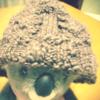アラン模様の帽子