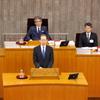 21日、6月定例会が開会。知事が秋の知事選出馬を表明。