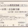 京浜急行電鉄  「GoToトラベル専用 京急線1日フリー乗車券」