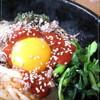 ●韓国家庭料理「家族亭」の石焼きビビンパランチ.....and..