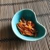 オイル付け明太子「博多の小瓶」でレンジで簡単「にんじんの子和え」
