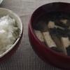 金時草と第2蜜月(5) お味噌汁 カボス汁もお好みで