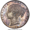 イギリス1839年ヴィクトリア プルーフクラウン銀貨NGC PF64+