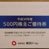 東京ドーム株主優待券について 利用レビュー 更新2回目