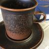 数多くあるアラビア社のカップやプレートなどの中でもひときわ地味なデザインのルスカです。