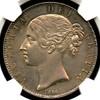 イギリス1844年クラウン銀貨ヴィクトリアNGC MS64