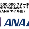 【SPG】500000スターポイントあったら何ができるかをシュミレーション【ANAマイル篇】