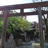 荏原神社の塀から覗く存在
