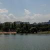 プラハ市内の砂浜を見にHostivařská přehradaへ