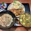🚩外食日記(422)    宮崎ランチ   「かつれつ軒」★11より、【冷汁・しょうが焼きセット】‼️