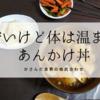 具材は豆腐と油揚げだけ。安くてうまいあんかけ丼