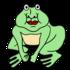 相撲好きのかわいいカエル のイラスト