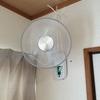 壁掛け扇風機、DCモーター搭載がやってきた! 石膏ボードだけど取り付けたよ。