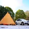 【2月 羽高湖森林公園キャンプ場】薪ストーブと想定外の雪中キャンプ!?