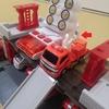 【工作】ハッピーセットトミカ2019の照明車を消防車にしよう!