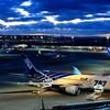 羽田空港から夜明け前の空と日の出を撮影してみました