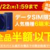 楽天スーパーSALE最終日に楽天モバイルが売れ残り分をデータSIMで大放出!