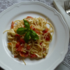 5つの食材で出来るカプレーゼ風冷たいパスタ【レシピ】週末のお昼は、おうちで手作りイタリアン ❤