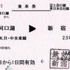 河口湖→新宿 乗車券