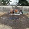 箱庭の石組み