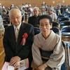 14日、渡利地区敬老会に出席。米寿代表は小林忠道元福島商工会議所専務ご夫婦。最高齢は108歳の菅野定吉さんで県の最高齢者