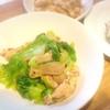 鯖はんぺんバーグ、ちくわかき揚げ、豚肉青梗菜