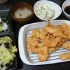 チキン南蛮風、キャベツ海苔和え、味噌汁、かぶの酢漬け