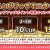 【ちょびリッチ】モニタ案件でのステップアップポイント増量キャンペーン開催中!!