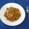 秋の味覚:マッシュルームのパスタ①トマトソース