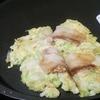 小麦粉と豆腐のお好み焼き
