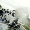 ワゴン車が衝突・炎上、日本人4人死亡…タイ