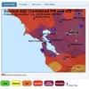 カリフォルニア州北部ビュート郡、南部ベンチュラ郡での山火事。