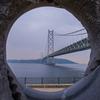【写真】雨の日の明石海峡大橋を撮る、舞子公園(2019/03/03)