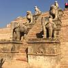 ネパールの古都 バクタプルの歴史的な建物は復興途中 @ カトマンズ