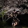 【夜桜×着物×フリースタイルフットボール】町野健との撮影会!第3弾
