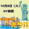 【10/8 NY時間】GBPUSDの1.2200に注目!!【動画】