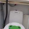 続キャンピングトレーラーのトイレ修理