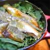 鮎と春菊のご飯