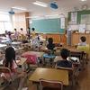 3年生:授業の様子とカメレオンの絵