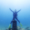 ♪水中ポストで記念撮影♪〜沖縄ビーチダイビング砂辺〜